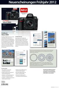 Profibuch Nikon D800 von Franzis
